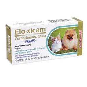 Anti-inflamatório Eloxicam Comprimido 0,5mg chemitec