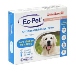 Antipulgas e Carrapatos Ec-Pet 21 a 40kg
