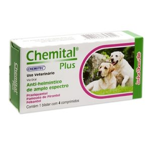 Vermífugo Chemital® Plus Cães